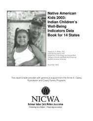 Native American Kids 2003: Indian Children's Well-Being Indicators ...