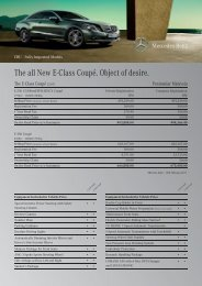 The all New E-Class Coupé. Object of desire. - Mercedes-Benz ...