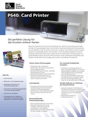 Zebra Kartendrucker P640i