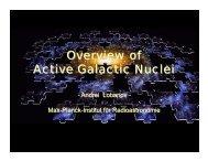 Overview of Active Galactic Nuclei - Mpifr-bonn.mpg.de