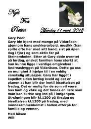 11.3.2013 - Vidaråsen