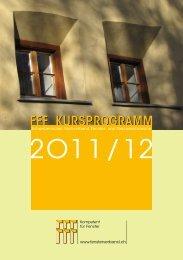 FFF Kursprogramm 2011/12 - Schweizerischer Fachverband Fenster