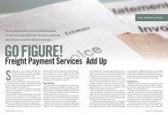Go Figure! Freight Payment Services Add Up - Inbound Logistics