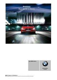 Prislista Nya BMW 3-Serie