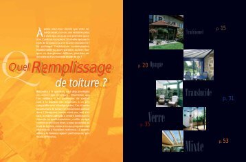 Dossier QUEL REMPLISSAGE DE TOITURE - Réussir sa Véranda