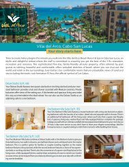 Download this fact sheet as a PDF - Villa Group