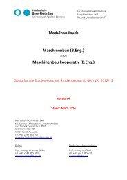 Modulhandbuch Maschinenbau - Fachbereich Elektrotechnik ...