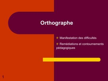 Orthographe - Sylvie Castaing