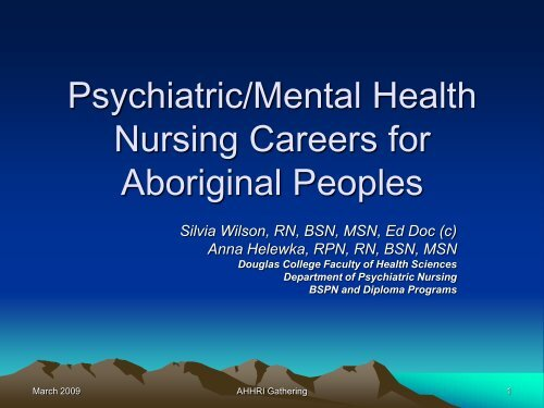 Appendix 6 Douglas Psychiatric Mental Health Nursing Careers