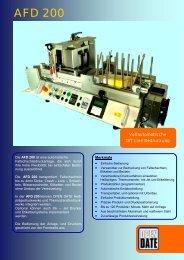 AFD 200 (PDF) - OPEN DATE Kennzeichnungssysteme GmbH