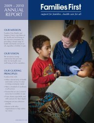 2009-2010 Annual Report - Families First Health and Support Center