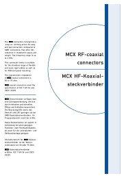 MCX RF-coaxial connectors MCX HF-Koaxial- steckverbinder