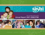 Annual Report 2007-2008/5768 - The Rashi School
