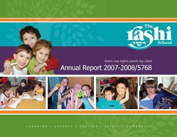 Annual Report 2007-2008/5768 - The Rashi School