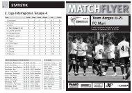 Team Aargau U-21 FC Muri - FC Aarau