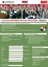 Fußball-Camps 2010 und Fußballschule 2010/2011 - TSG Balingen