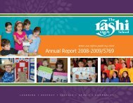 Annual Report 2008-2009/5769 - The Rashi School