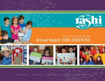Annual Report 2008-2009/5769 - The Rashi School
