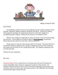 Reading Log Homework Expectations - Greeley Schools
