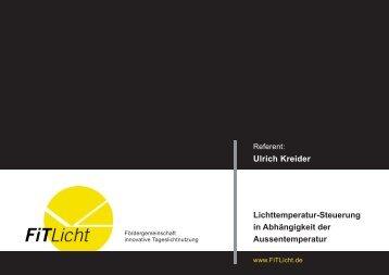Lichttemperatur-Steuerung in Abhängigkeit der Aussentemperatur ...