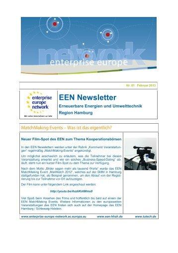 EEN Newsletter - EEN - Hamburg / Schleswig-Holstein
