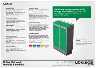 28 Bay Wall Vault Features & Benefits