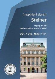 Inspiriert durch Steiner Tagung an der Technischen Universität Wien