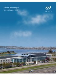 Zhone Technologies 2006 Annual Report