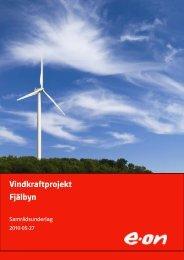 Vindkraftprojekt Fjälbyn - E-on