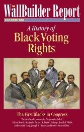 Black Voting Rights - WallBuilders