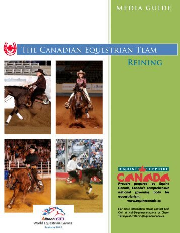 The Canadian Equestrian Team Reining - Equine Canada