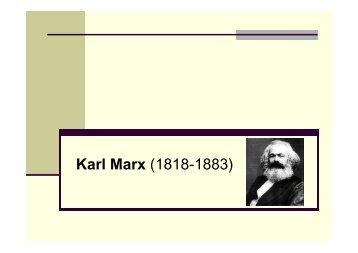 Karl Marx (1818-1883) - Hecho Histórico