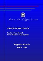 Anno 2008 - Unmig - Ministero dello Sviluppo Economico