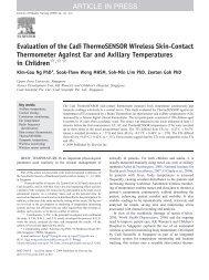 Evaluation of the  Cadi ThermoSENSOR Wireless Skin ... - Cadi.Sense