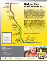 Nächster Halt: BUGA Koblenz 2011 - Verkehrsverbund Rhein-Mosel