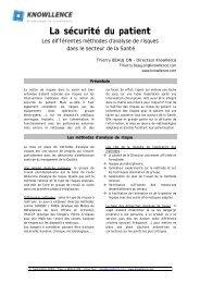 La sécurité du patient : les différentes méthodes d - Knowllence