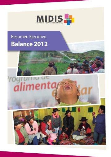 Balance 2012 - Ministerio de Desarrollo e Inclusión Social