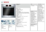 Bosch HBG36B650 Elektro-Einbaubackofen Vorgänger - VS Elektro