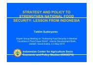 strategy and policy to strengthen national food security - Islamic ...