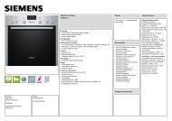 Technische Daten Siemens EQ 271E204 - VS Elektro