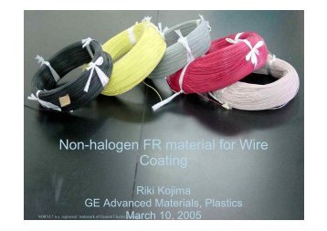 Non-halogen FR Material for Wire Coating - LTK