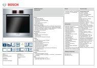 Bosch HBG78B750 Elektro-Einbaubackofen Vorgänger - VS Elektro