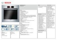 Bosch HBG38B752D Elektro-Einbaubackofen Vorgänger - VS Elektro