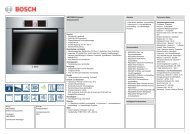 Bosch HBG76B650 Elektro-Einbaubackofen Vorgänger - VS Elektro