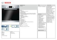 Technische Daten Bosch HND 13H5 - VS Elektro
