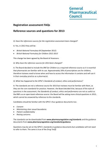 Registration Assessment 2013 FAQs.pdf - General Pharmaceutical ...