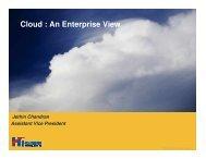 Cloud : An Enterprise View