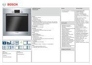 Technische Daten Bosch HBG 33B555 - VS Elektro