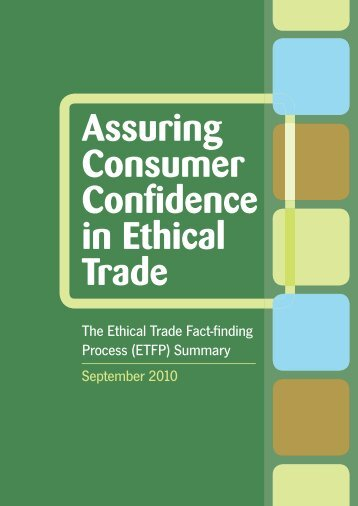 Assuring Consumer Confidence in Ethical Trade - Consumers ...