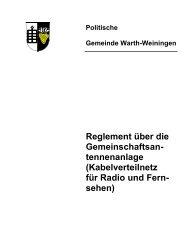 Reglement über die Gemeinschaftsan ... - Warth-Weiningen